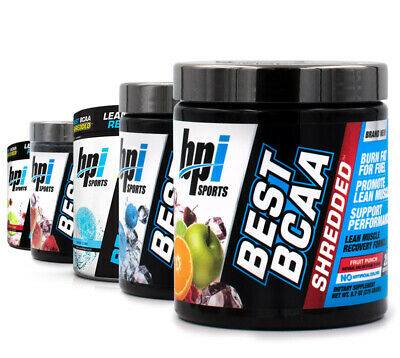 BPI Sports Best BCAA SHREDDED Muscle Recovery & Fat Burning 25 Srv + FREE SHIRT