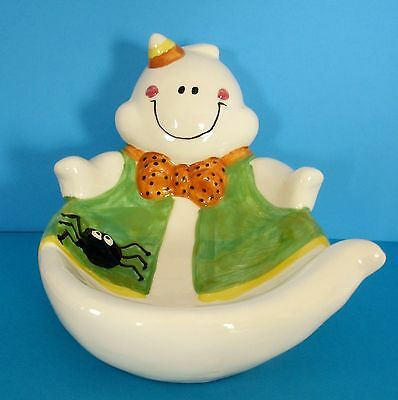 Halloween Ghost Candy Dish.  Halloween Decor Candy Dish. Candy Bowl.