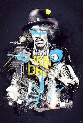 """JIMI HENDRIX MUSIC ROCK POP WITH GUITAR THE POSTER 24""""x36"""" NEW SHEET WALL 55127"""
