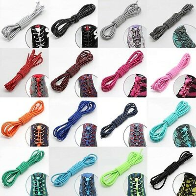 Colorful Elastic Sports Laces Lock Shoelaces Triathlon Trainer Running Jogging