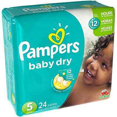 Pampers Baby Dry Diapers, Size 5 24 ea (Pack of 8)