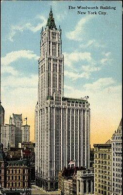 Ak New York City USA, View of the Woolworth Building, skyscraper - 1085695