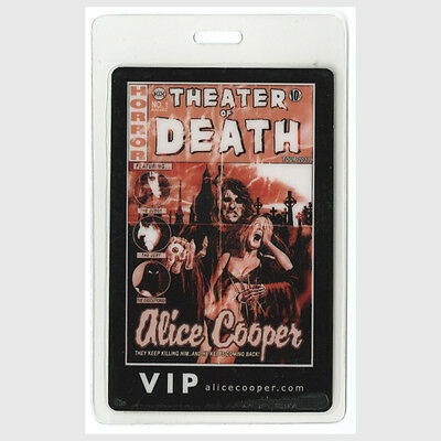 Alice Cooper authentic 2010 concert tour Laminated Backstage Pass