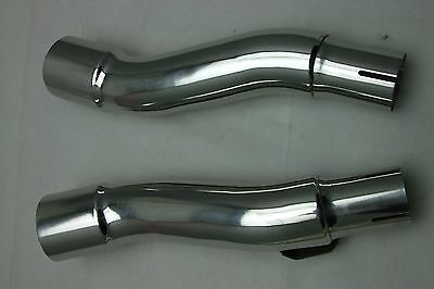 Kawasaki Gpz 500S 1987-2003 S/steel Exhaust Silencer Link Pipes Pair New Pr1392