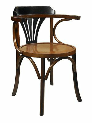 G690: Bugholz Armchair, Viennese Coffee house chair with black Backrest