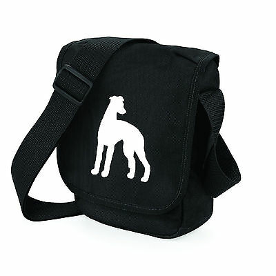 Whippet Hound Dog Bag Silhouette Reporter Shoulder Bags Handbags Xmas Gift