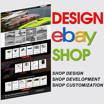 Custom Design eBay Store Shop Listing Template Service HTML 2017 Compliant