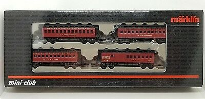 Marklin Z 87910 D&RGW Old Time 4-Passenger Coaches Set