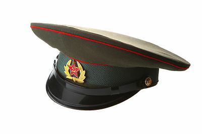 Russian / USSR Army Military Hat / Officer's Cap + Soviet Red Star size 59 cm L