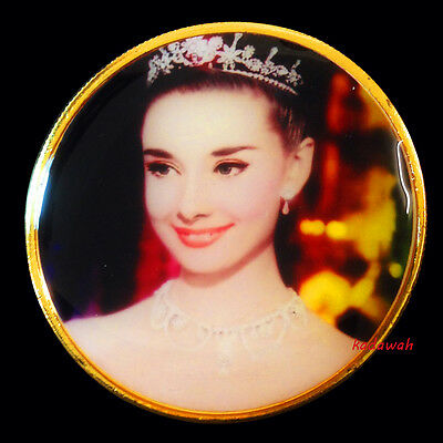The Beauty Woman Audrey Hepburn - 24K Gold Plated 1oz Commemorative Coin