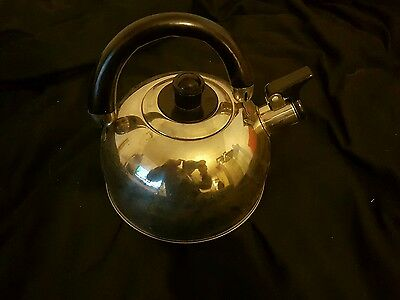 Kampa Polly Stainless Steel 2 Litre Whistle Camping Kettle