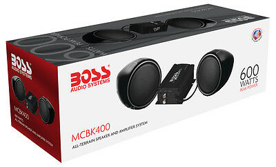 "Boss Audio Mcbk400 Motorcycle 3"" Speaker And Amplifier System"