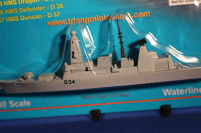 HMS DIAMOND D34 Type 45 Daring Class destroyer on card Triang Minic Ships.
