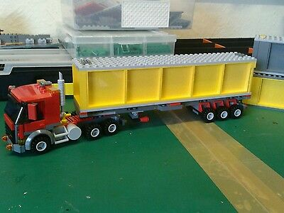 Lego City Custom Truck And Container Trailer L@@k