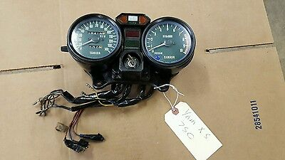 yamaha xs750 gauges triple with ignition and key speedometer tachometer tach