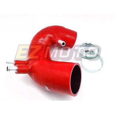 Rouge Silicone Induction Admission Tuyau Pour Fiat Abarth 500 At Mt 2007 - 2015