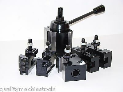 Wedge Type Quick Change Toolpost Set 100 Axa 251-111 Tool Post, Free Shipping