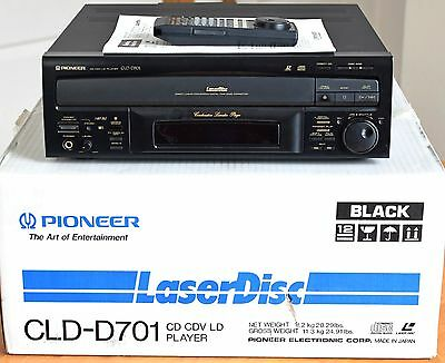 Pioneer Laserdisc Player CLD-D701, Boxed w/Remote -  Parts or Repair