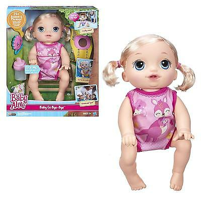 NEW Baby Alive Go Bye-Bye Blonde Doll Interactive Talks English/Spanish Wets