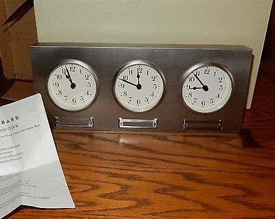 Pottery Barn World Time Clock With Box