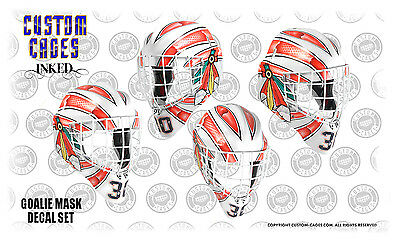 Custom Cages goalie mask vinyl decal set