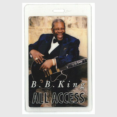 BB King authentic * concert tour Laminated Backstage Pass