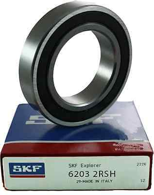 6203 2RS SKF Deep Groove Bearing - 2RSH - 2 Rubber Seals - 17mm x 40mm x 12mm