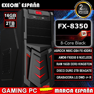 Ordenador Pc Gaming Amd Quad Core A10 7700K 16Gb Ram 2Tb Hdd - Marca España