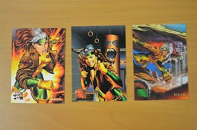 Marvel Masterpieces Trading Cards: Rogue: 1995: Set of 3 (82, 83, 84)