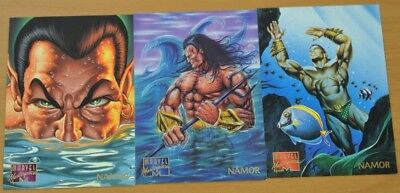 Marvel Masterpieces Trading Cards: Namor: 1995: Set of 3 (70, 71, 72)