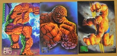 Marvel Masterpieces Trading Cards: Thing: 1995: Set of 3 (100, 101, 102)