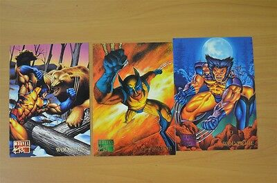 Marvel Masterpieces Trading Cards: Wolverine: 1995: Set of 3 (112, 113, 114)