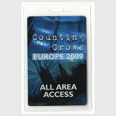 Counting Crows authentic 2009 concert tour Laminated Backstage Pass