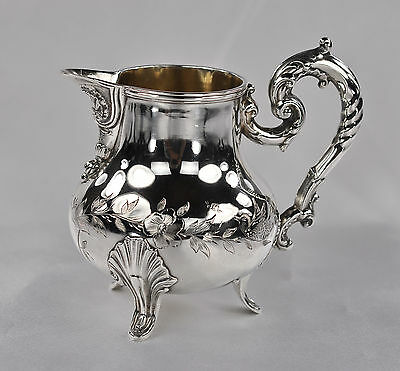 "French Sterling Silver (.950) Creamer, Milk Pitcher, Jug, 4"" Tall"