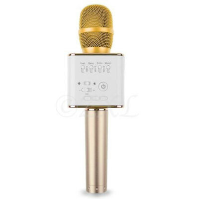 MicGeek Q9 Wireless Bluetooth Karaoke Microphone USB Speaker Mini Home KTV Gold