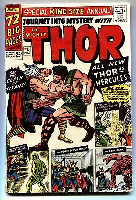 Journey Into Mystery Annual #1 comic book 1965-Kirby Silver Age- 1st Hercules
