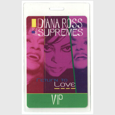 Diana Ross authentic 2000 concert tour Laminated Backstage Pass