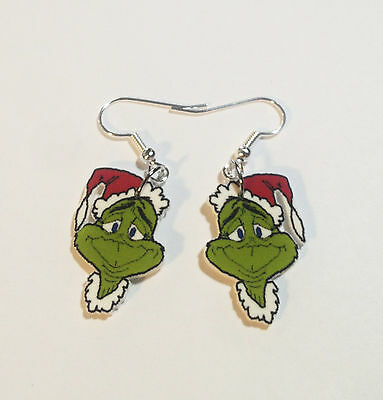 Grinch Who Stole Christmas Face Earrings Charms