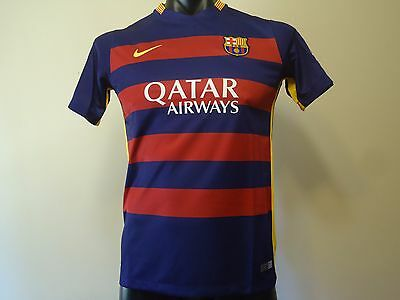 Barcelona Official Home Jersey 15/16 Boys Xl New
