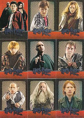 Harry Potter & The Deathly Hallows 2 2011 Base Set + 2 Insert Card Sets Movie