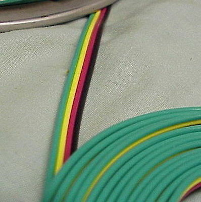 American Flyer  Rainbow Wire (#24 & #23024), 4-wire (B,R,Y,G), 22ga (2 ft) (NEW)
