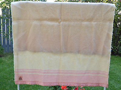 Vtg/canada Pure Wool Baby Blanket/ayers/36'' X 49''