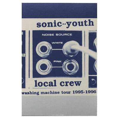 Sonic Youth authentic Local Crew 1995-1996 tour Backstage Pass