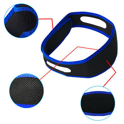 NEW Professional Anti Snoring Chin Strap Snore Stopper Apnea Jaw Support Belt