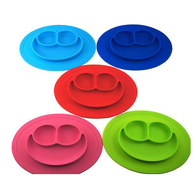 Baby Toddler Kids Feed Food Plate Silicone Feeding Placemat Plate Food Table Mat