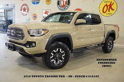 2016 Toyota Tacoma TRD Off Road 4X4 NAV,BACK-UP CAM,CLOTH,9K,WE FINAN 16 TACOMA DOUBLE CAB TRD OFF ROAD 4X4,NAV,BACK-UP CAM,16IN WHLS,9K,WE FINANCE!!