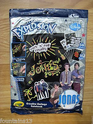 JONAS BROTHERS Crayola Color EXPLOSION Creative Collage Notebook Stickers Disney