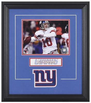 New York Giants Eli Manning Framed Photo and Plate