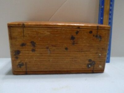 Antique Wood Box With Singer Sewing Machine Parts  Free Ship