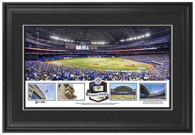 Limited Edition Rogers Centre MLB Blue Jays Framed Stadium Panoramic w/Game Ball
